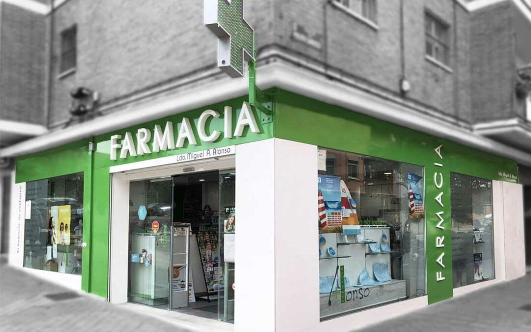 escaparate de farmacia